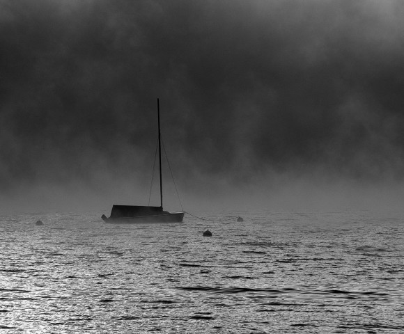 Solitary Boat on Lake Chautauqua